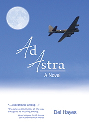 Cover of Ad Astra novel by Del Hayes