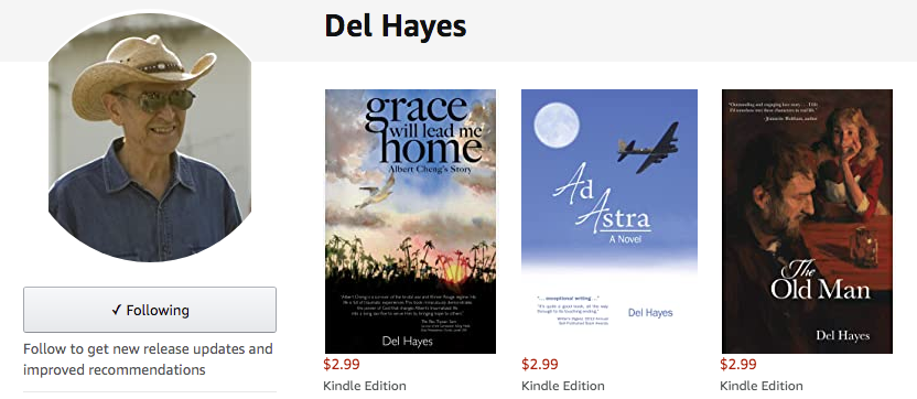 Amazon Del Hayes author page
