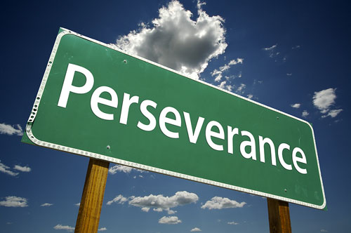 "Road sign that says ""Perseverance"""