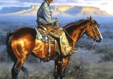My heroes seem to have always been cowboys; just a man and his horse, and wide open spaces